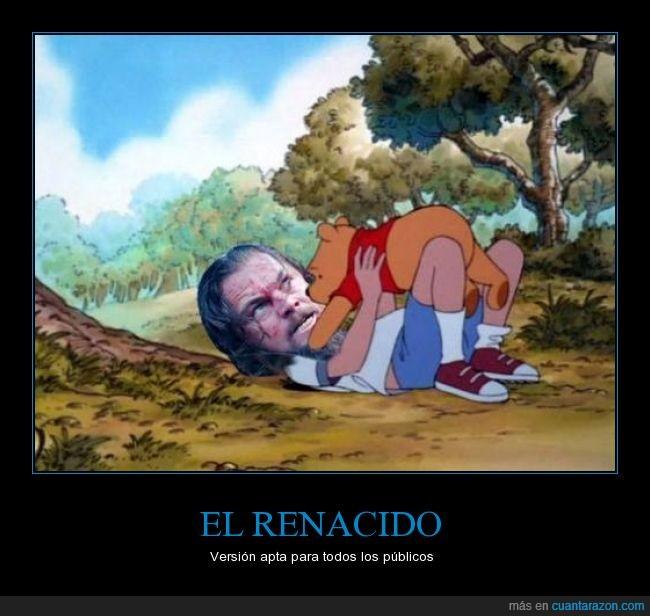 El renacido,Leonardo Dicaprio,oso,The Revenant,Winnie the pooh