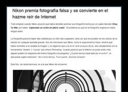 Enlace a Nikon premia un truño mal photoshopeado. Internet goes crazy