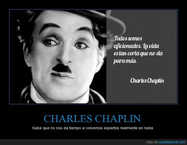 aficionado,Charles Chaplin,corta,mas,vida