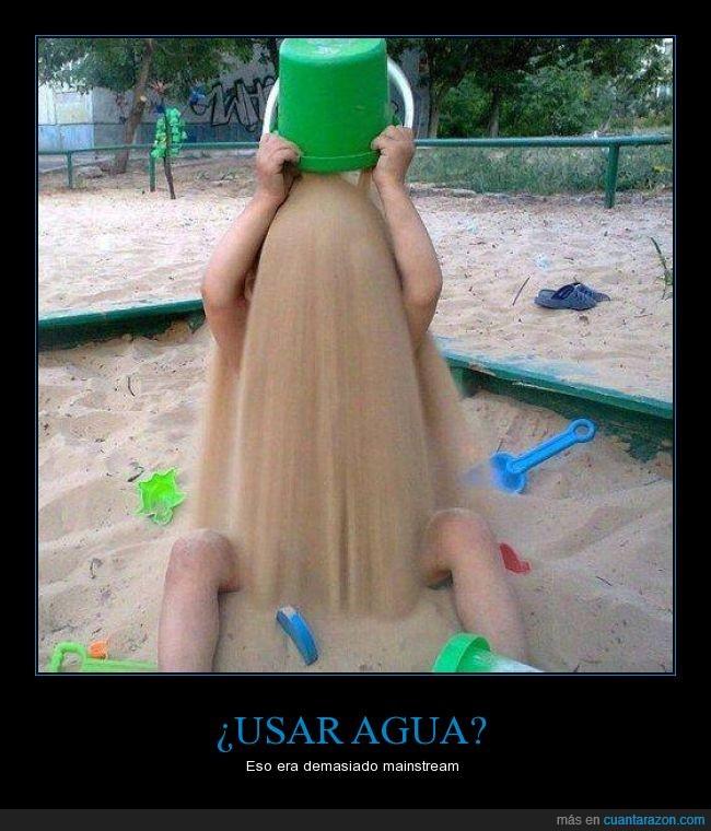 arena,banco,baño,cubeta,cubo,ice bucket challenge,niño