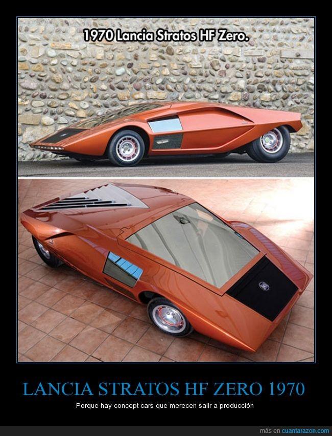 coches,concept car,concepto,genial,lancia,lancia stratos hf zero,motor,naranja