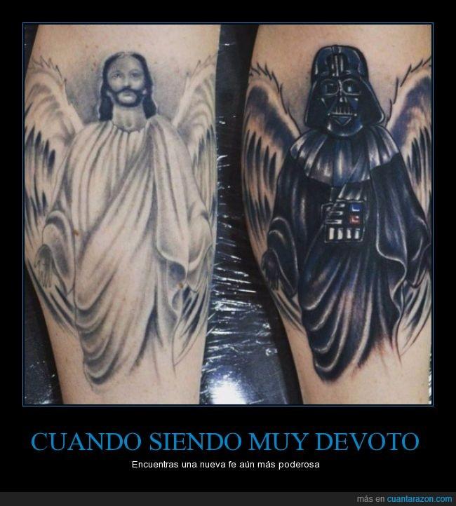 cover,Darth Vader,Jesús,tapar,Tatuaje