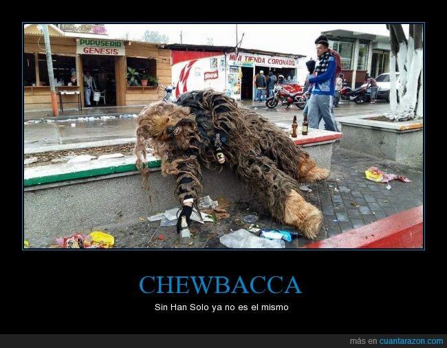 Borracho,Caravana del Zorro,Cerveza,Chewbacca,Han Solo,Mendigo,Star Wars