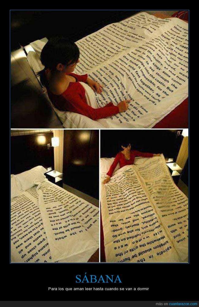 dormir,edredon,funda,genial,leer,libro,nordico,sabana