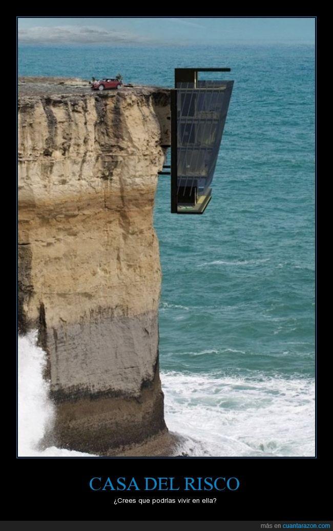 acantilado,aterrador,Australia,casa,edificio,genial,mar,montaña,risco,vertigo