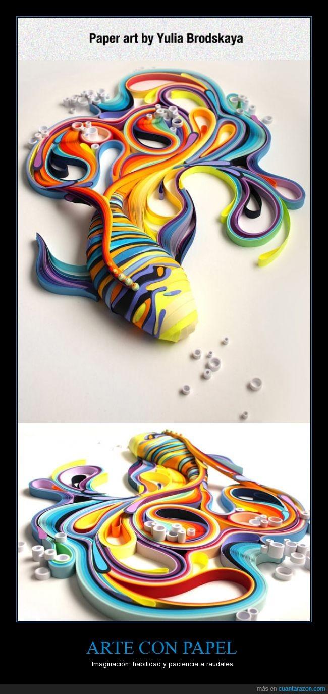 arte,colores,genial,habilidad,papel,pez