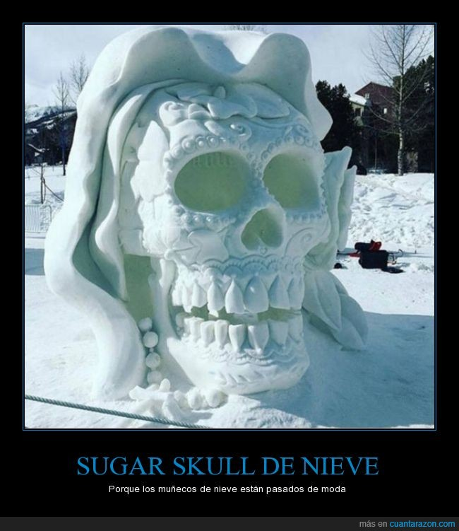 calavera,nieve,sugar skull