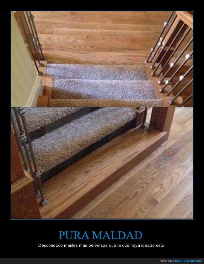 alfombra,engaño,escaleras,moqueta