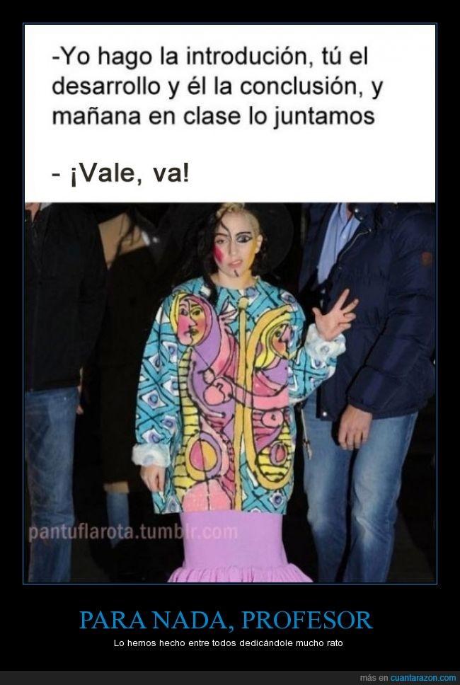 diferente,estilo,Lady Gaga,maquillaje,mitad,modelo,partes,Picasso,trabajo,unir