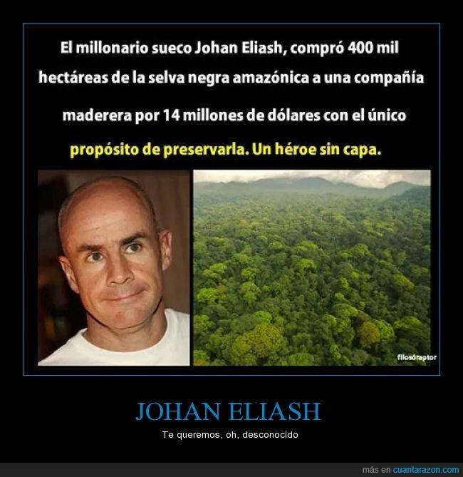 amazonica,comprar,dinero,hectarea,Johan eliash,millonario,preservar,selva,sueco