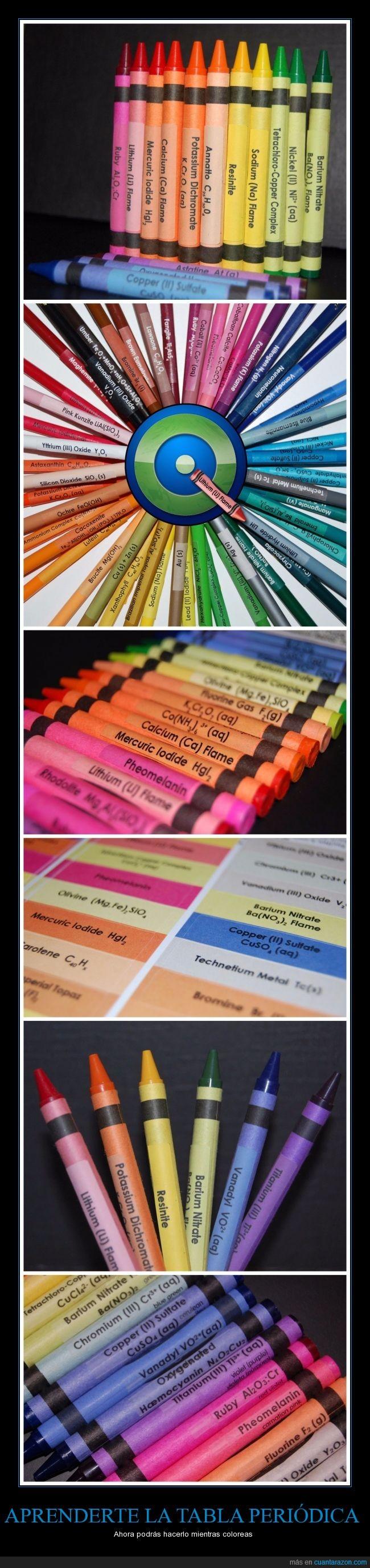 aprender,color,colores,crayola,elemento,etsy,pegatina,periodica,plastidecor,tabla