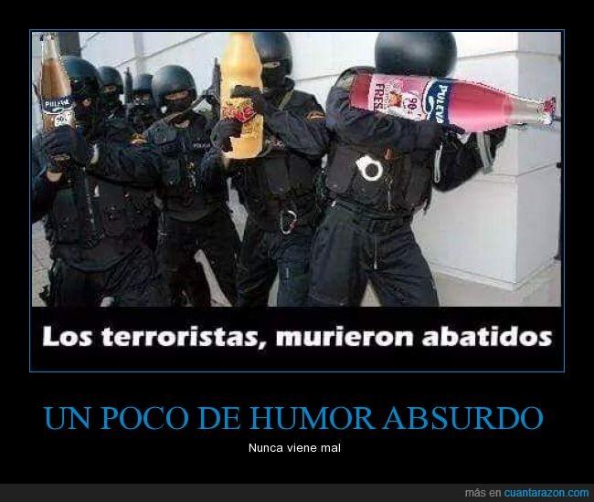 abatidos,batido,botella,policia,puleva,soldado,terrorista