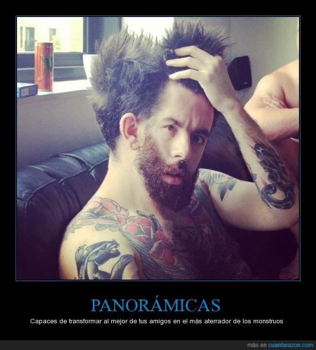 amigo,barba,fotografía,monstruo,mover,paniramica,tatuajes