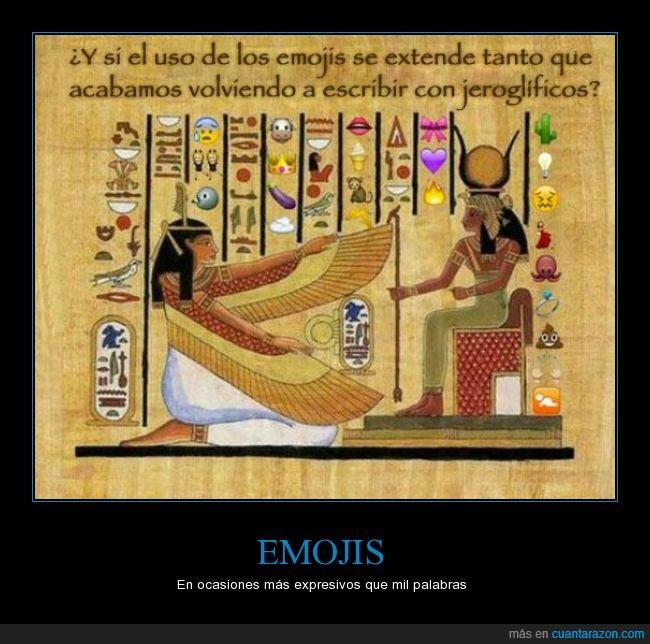 Egipto,emojis,emoticonos,escribir,escritura,jeroglifico,papiro