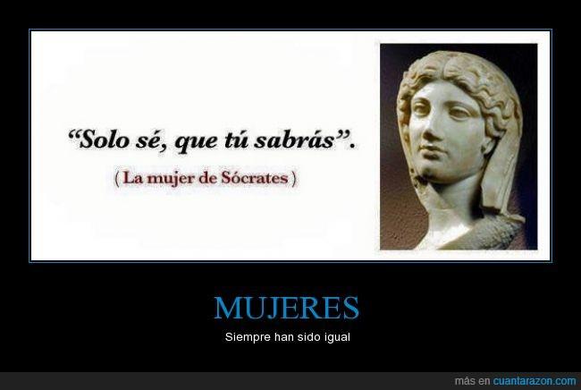 Busto,humor,mujeres,Sócrates,solo se que no se nada,solo se que tu sabrás,un poco de humor