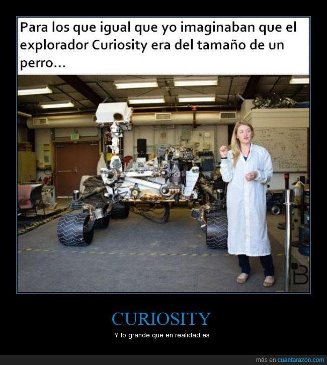 chica,curiosity,explorador,grande,marte,nasa,perro,robot,rover