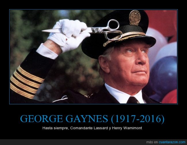 comandante Eric Lassard,George Gaynes,Henry Warnimont,Loca Academia de Policía,morir,muerte,Police Academy