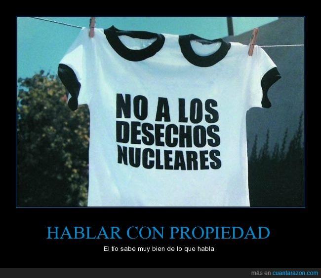 Campaña,deshechos nucleares,humor