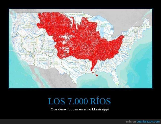 7000 rios,desembocadura,EEUU,río Mississippi