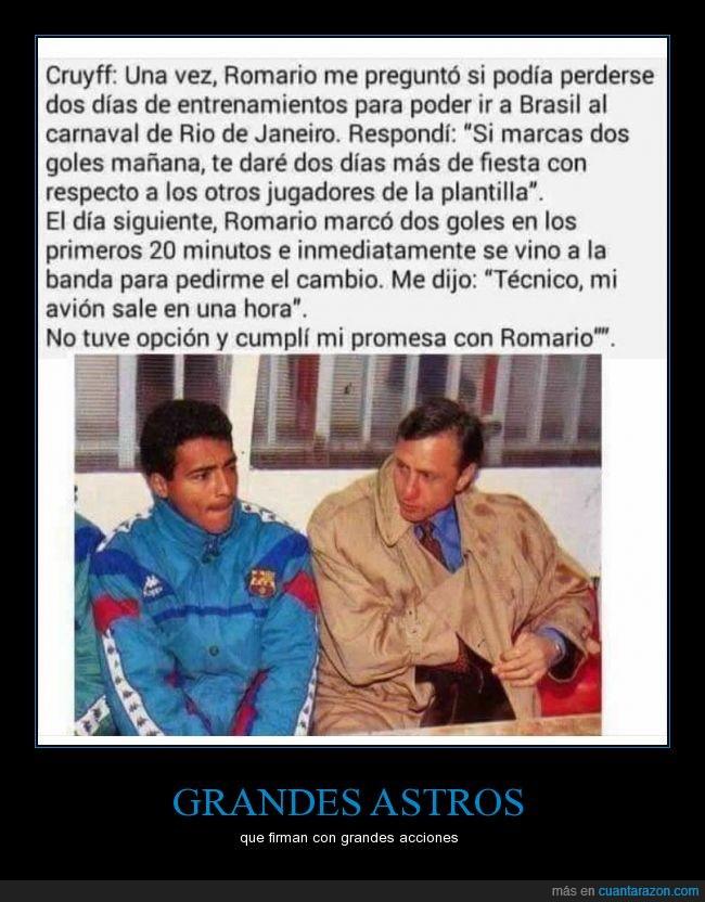 anecdota,Barça,Barcelona,carnaval,Cruyff,FCB,fútbol,gol,marcar,Romario