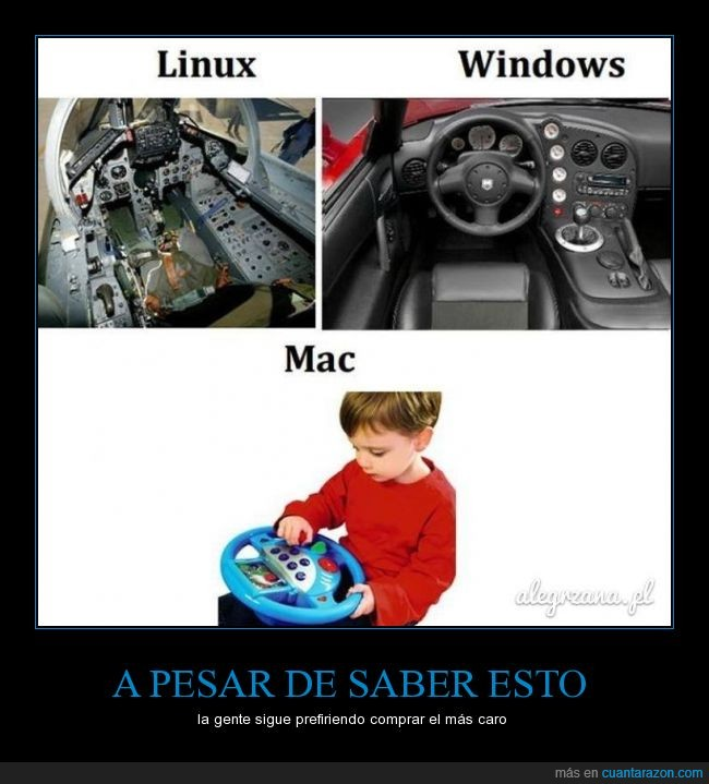 Apple,avion,coche,informática,Linux,ordenadores,pc,sistemas operativos,Windows