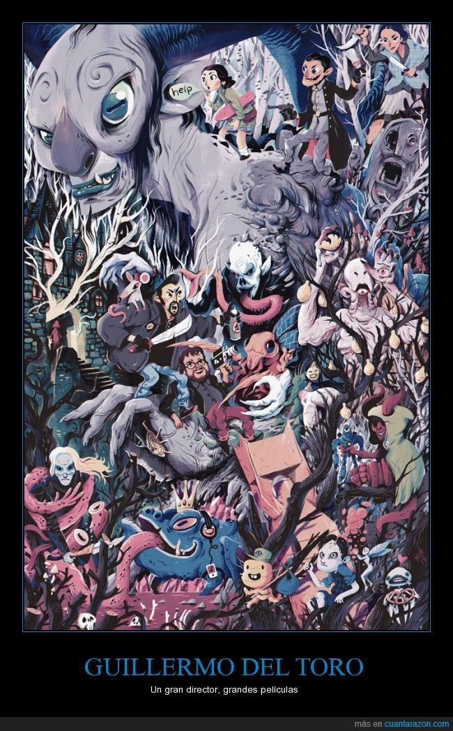 Director,Fauno,GuillermoDelToro,Hellboy,ilustracion,Pelicula