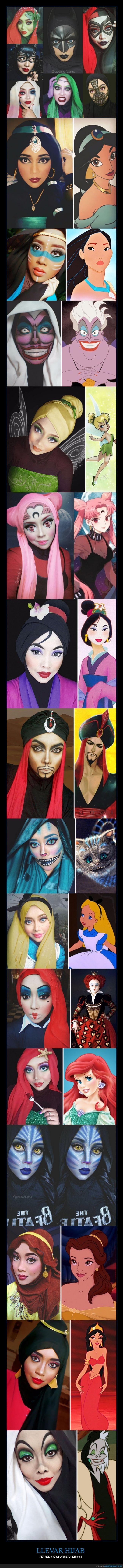 avatar,batman,cruella,disney,hijab,pañuelo,pelo,Queenofluna