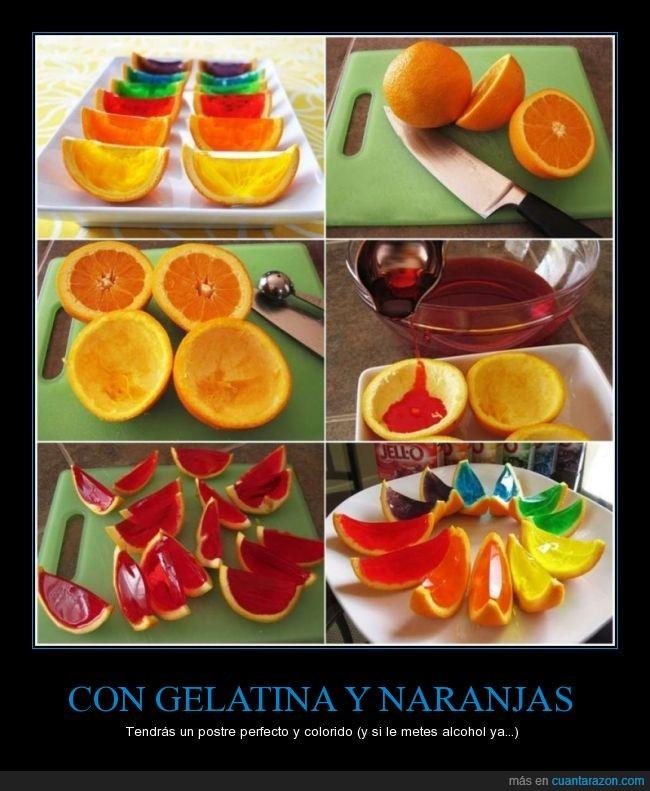 colores,gelatina,naranja,postre,receta,truquillo