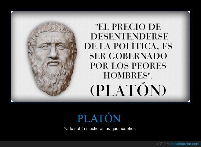 desentenderse,hombre,ignorar,peor,Platon,politica,politicos