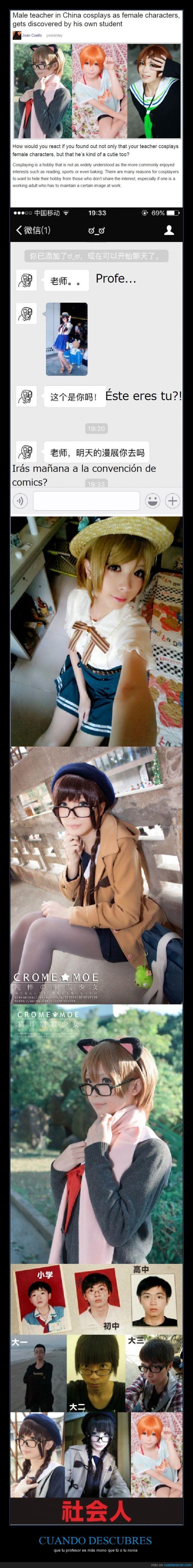 alumno,anime,asiatico,China,cosplay,kawaii pero chino,modelo,mono,Profesor,Trap,travestir
