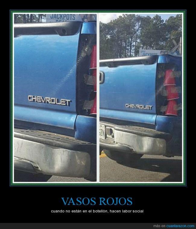camioneta,Estados Unidos,luz,pickup,vasos rojos