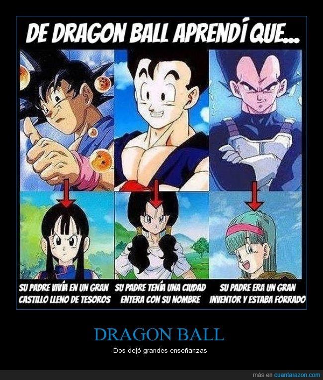 Bulma,dinero,Dragon Ball,Gohan,Goku,Milk,padre,poderoso,Vegeta,Vidal