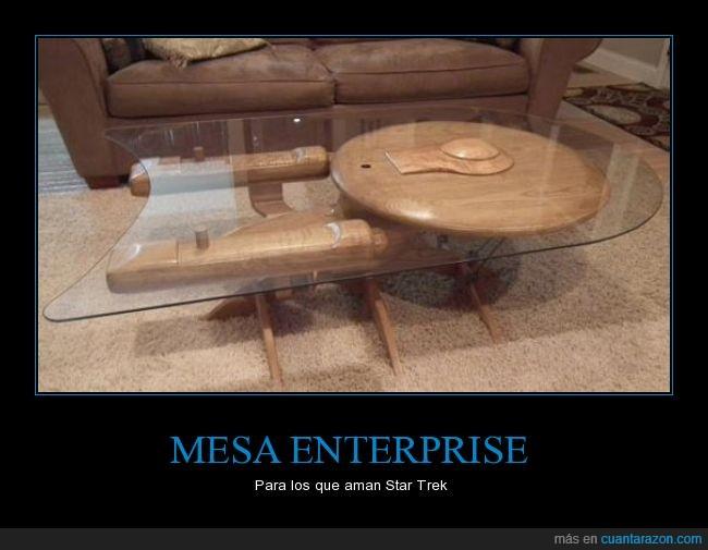 enterprise,genial,madera,mesa,star trek,vidrio