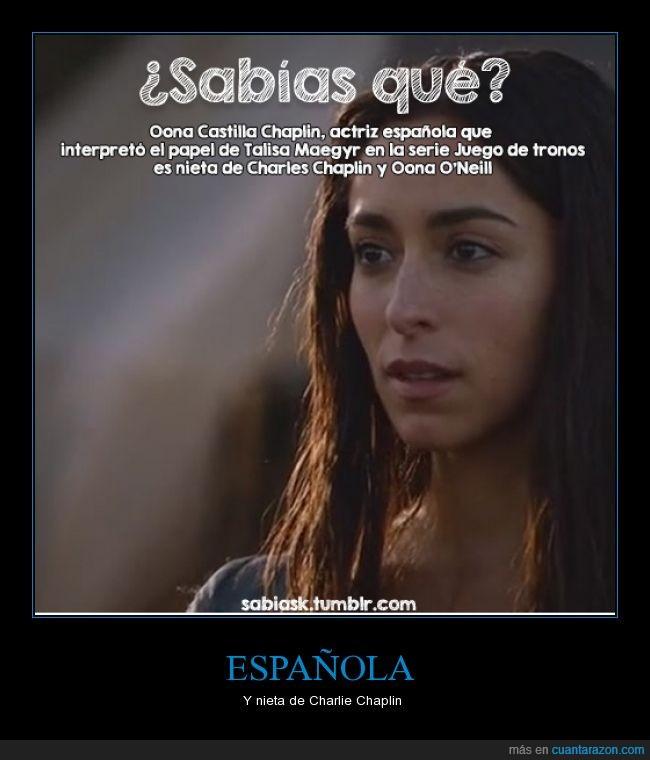 actriz,boda,chaplin,española,game of thrones,juego de tronos,roja