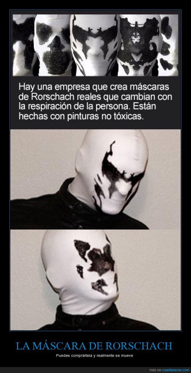cosplay,mancha,reacción,respiración,Rorschach,tinta,Watchmen