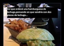 Enlace a Una verdadera hamburguesa de lechuga