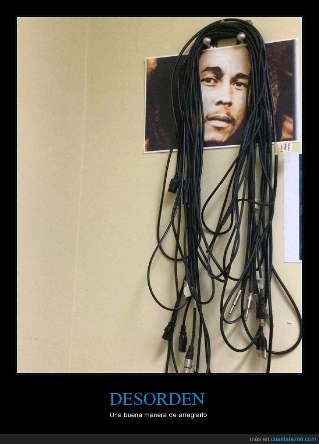 astuto,bob marley,cabello,cables,cuadro,pelo