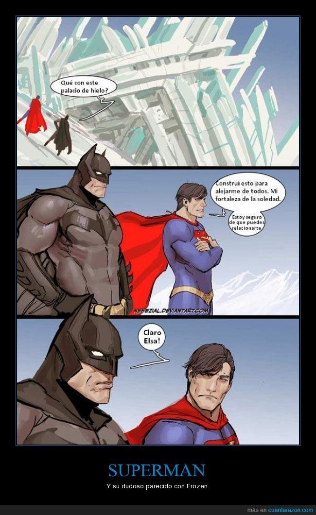 batcueva,batman,elsa,fortaleza,frozen,genial,hielo,superman