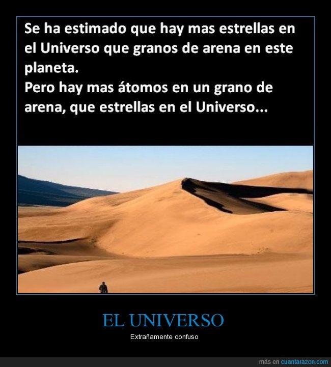 arena,atomo,cantidad,estrellas,genial,universo