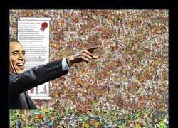 Enlace a ¿Tienes problemas encontrando a Wally? Obama te ayuda