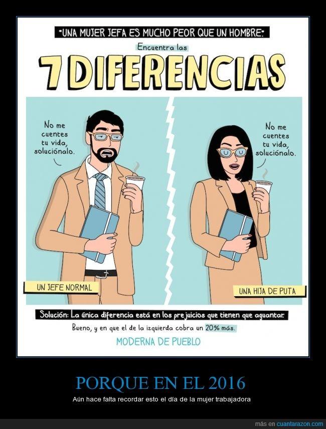 2016,diferencia,hombre,jefa,jefe,moderna de pueblo,mujer,normal,sueldo