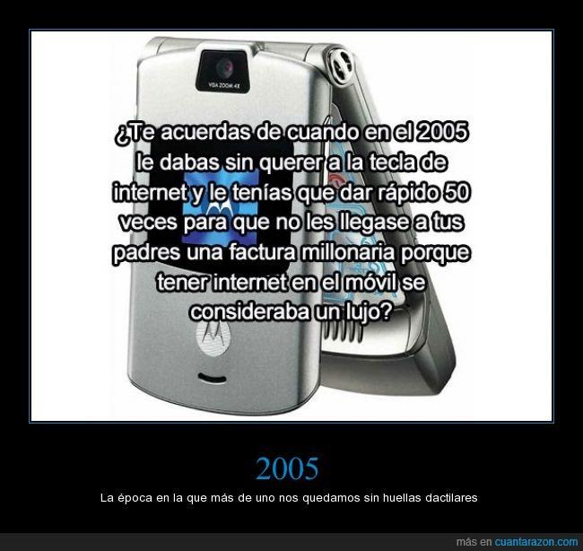 2005. año,dinero,factura,internet,lujo,movil,padres,pagar