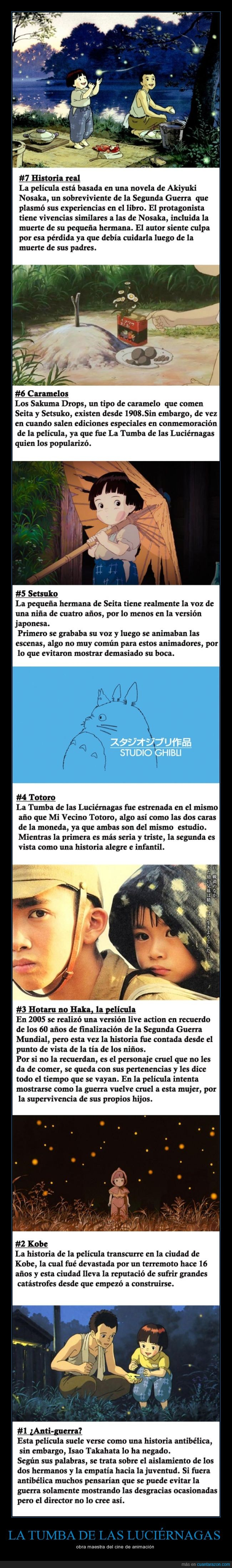 Ghibli,hotaru no haka,La tumba de las luciérnagas,Miyazaki