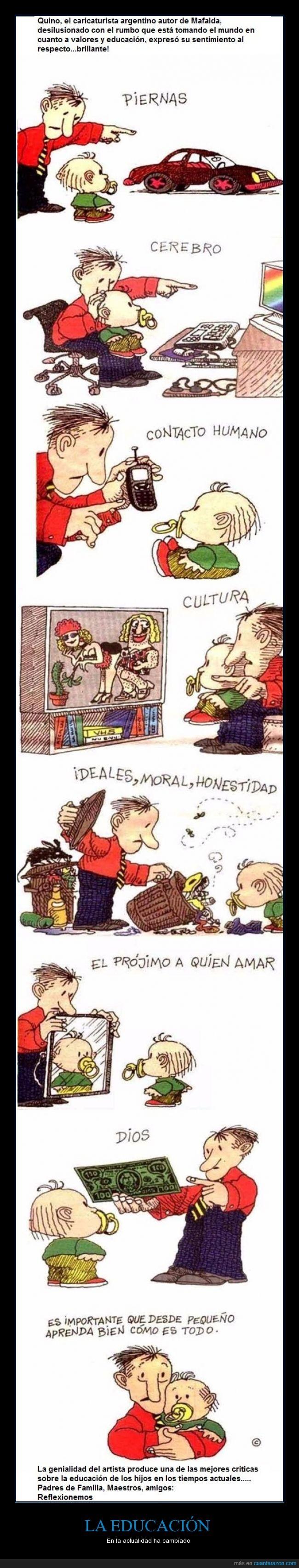 dinero,Dios,educacion,hijo,Mafalda,mundo,quino,teléfono
