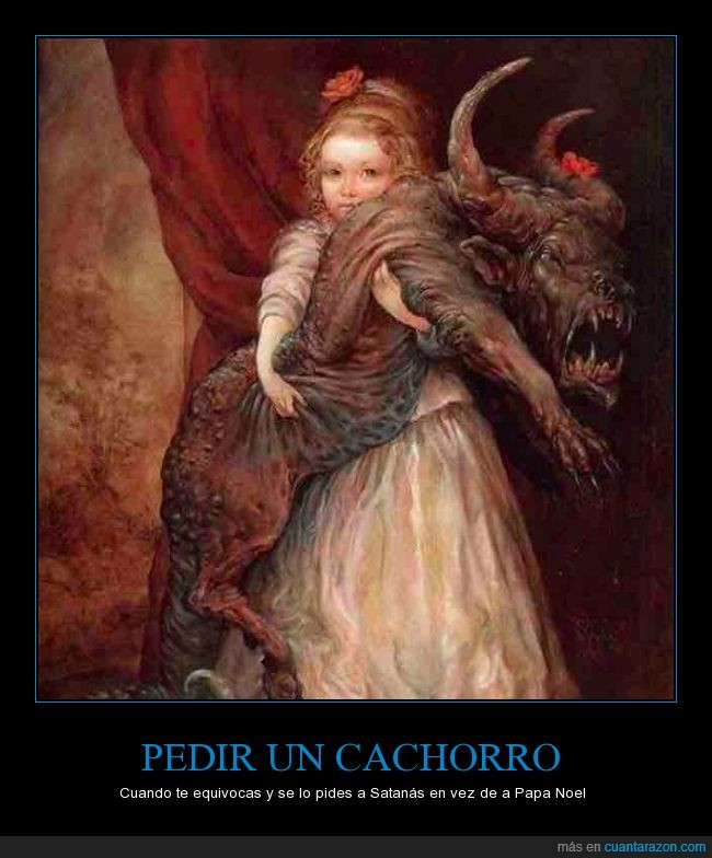 cachorro,demonio,monstruo,perro,regalo,satan