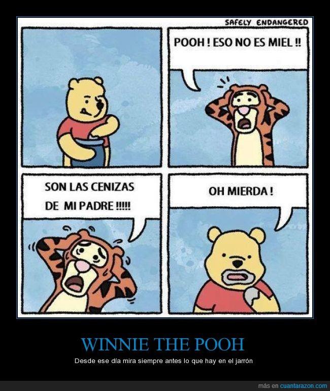 cenizas,jarron,miel,muerto,padre,tigger,winnie the pooh