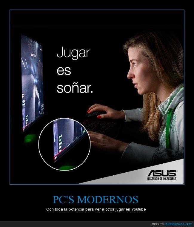 asus,ordenador,pc,vídeo,videojuego,youtube