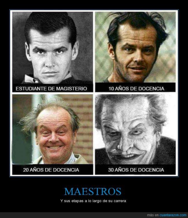 Jack Nicholson,Joker,loco,locura,mestros,profesor