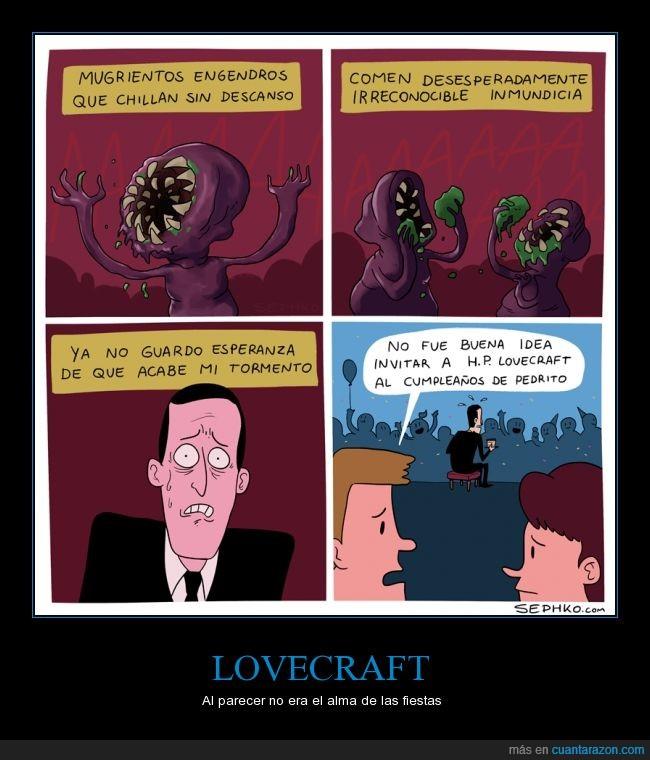 cumpleaños,engendros,Lovecraft,Pedrito,tormento,visión
