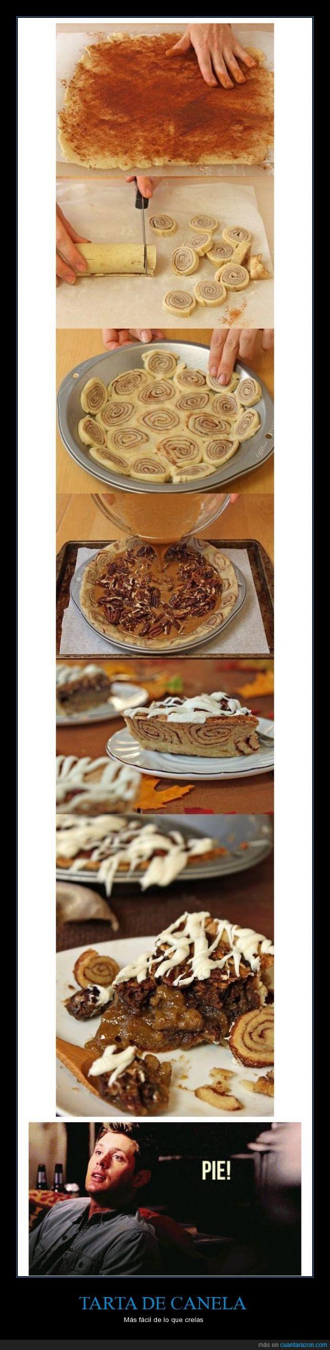canela,cinnamon,comida,Dean Winchester,genial,pie,receta,rico,supernatural,tarta